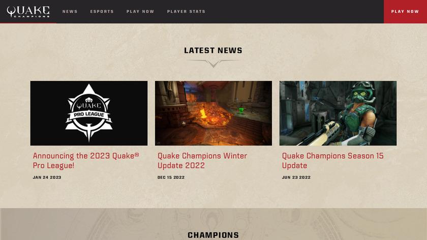 Quake Landing Page