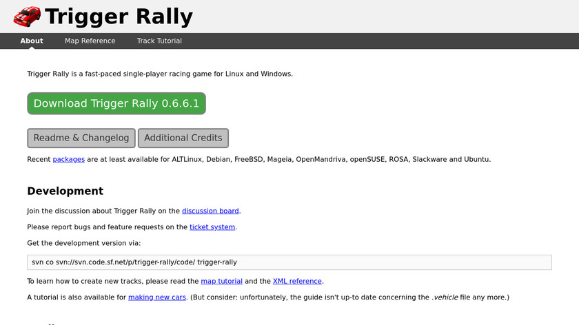Trigger Rally Landing Page