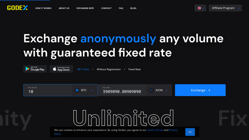 Godex Landing Page