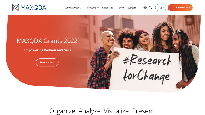 MAXQDA Landing Page