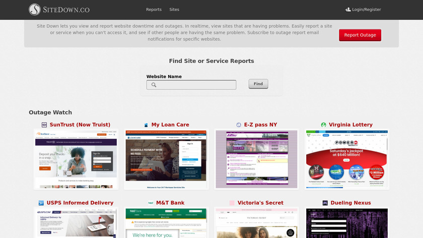 Site Down Landing Page