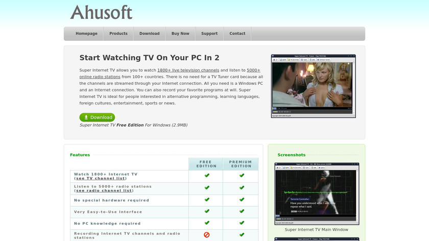 Super Internet TV Landing Page
