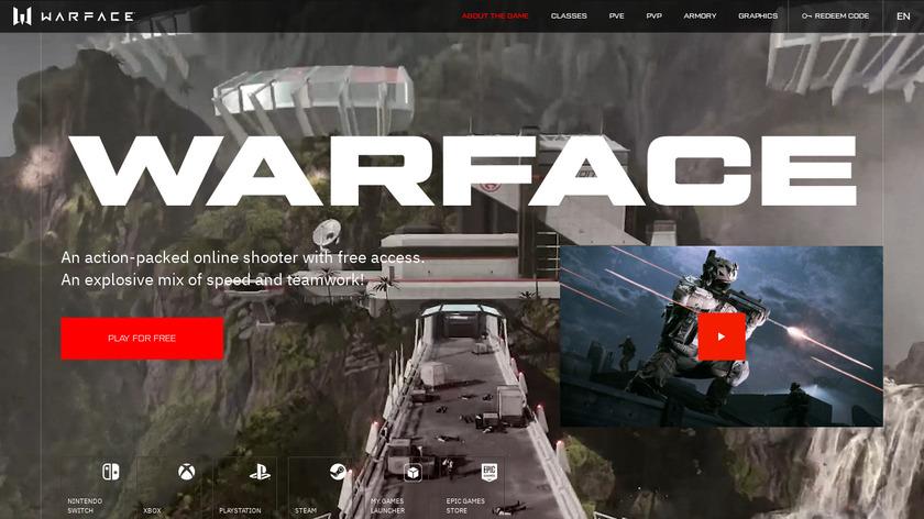 Warface Landing Page