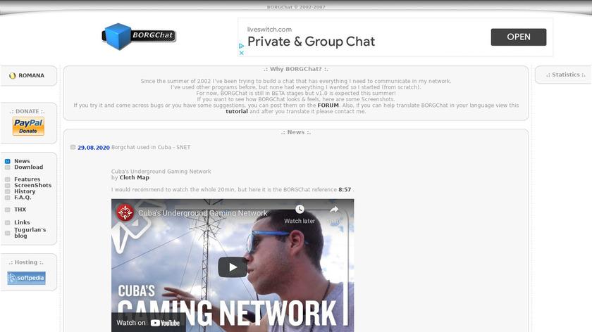 BORGChat Landing Page