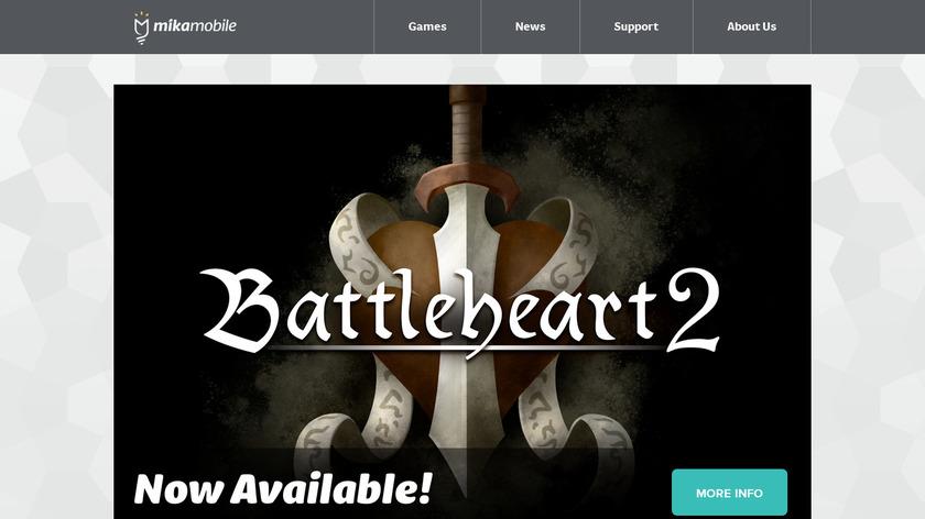 Battleheart Landing Page