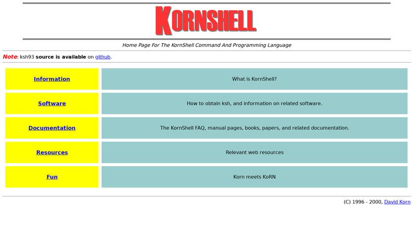 KornShell Landing Page