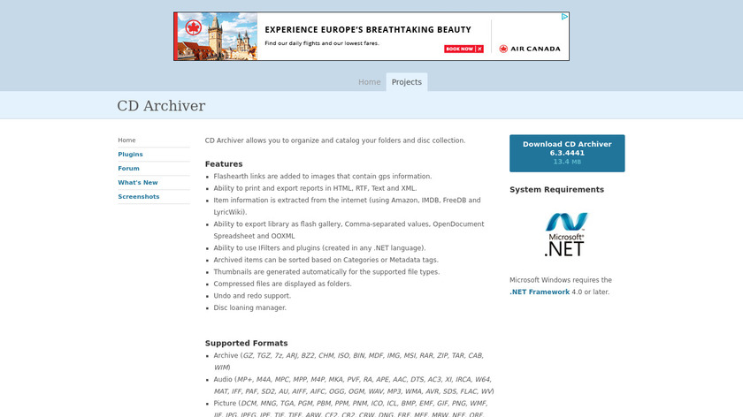 pmcchp.com CD Archiver Landing Page