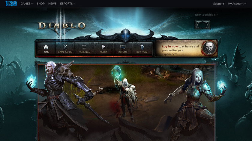 Diablo Landing Page