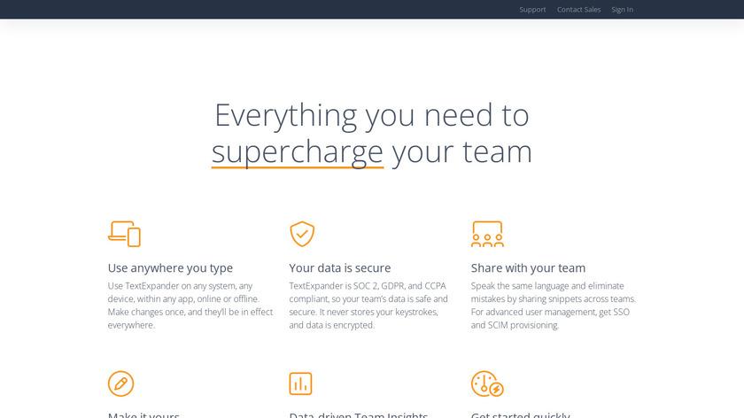 TextExpander Landing Page