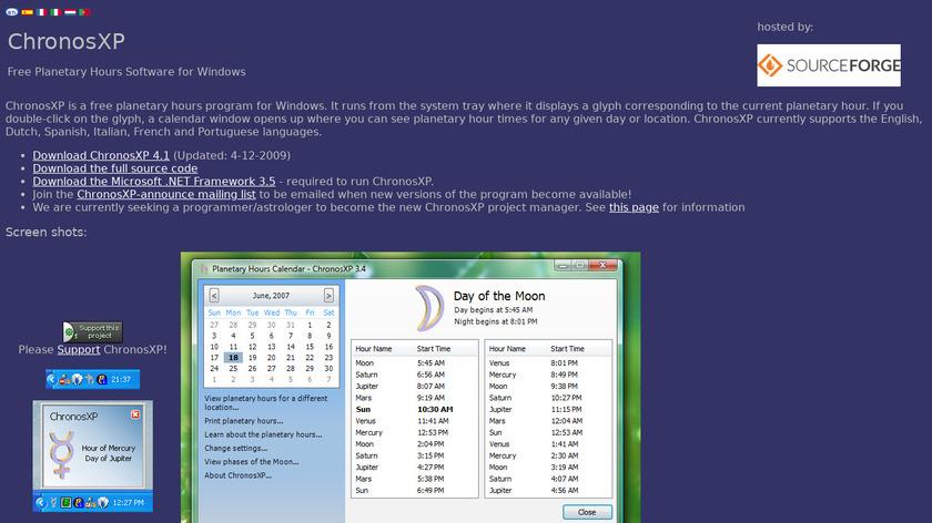 ChronosXP Landing Page