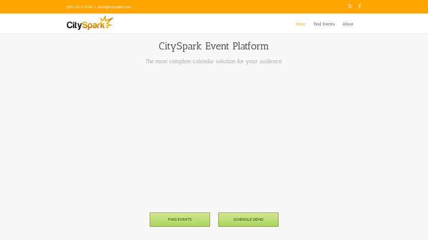CitySpark Landing Page