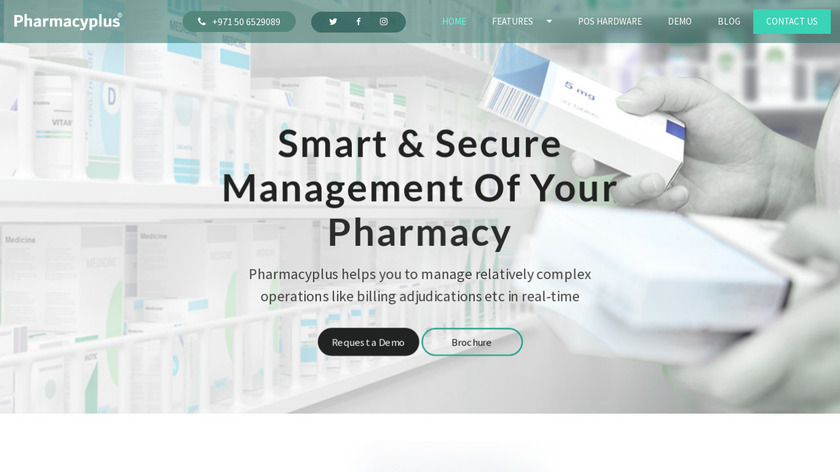 Pharmacy Plus Landing Page