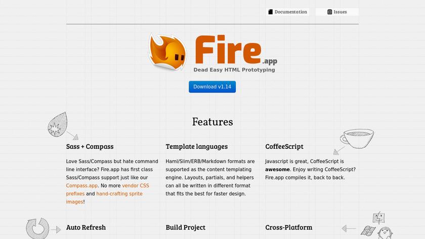 Fire.app Landing Page