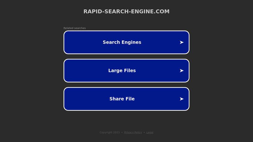Rapid-Search-Engine.com Landing Page