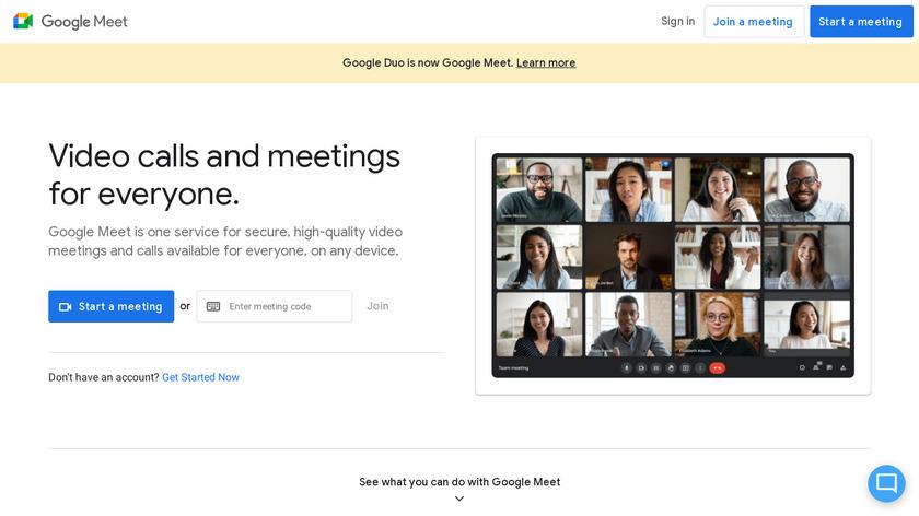 Google Duo Landing Page