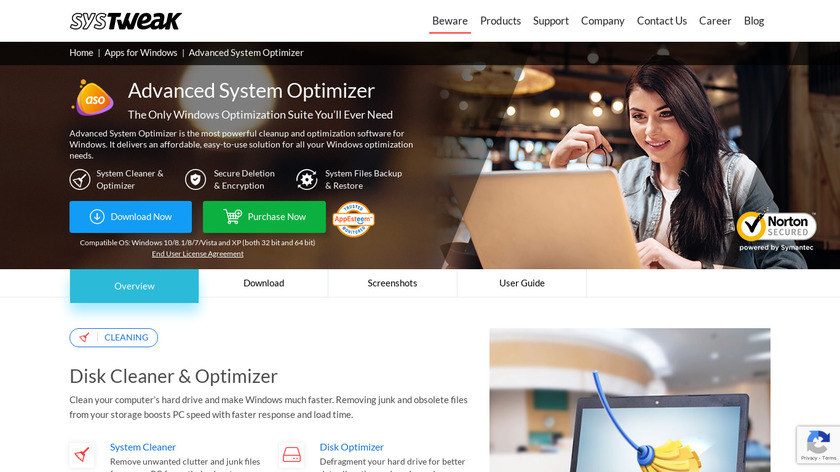 Advanced System Optimizer Landing Page