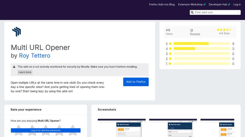 Multi URL Opener Landing Page