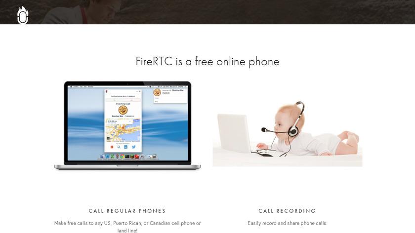 FireRTC Landing Page