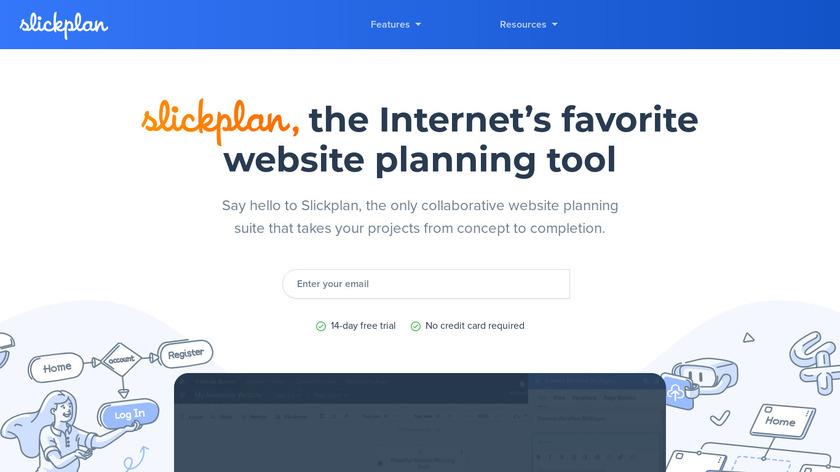 SlickPlan Landing Page