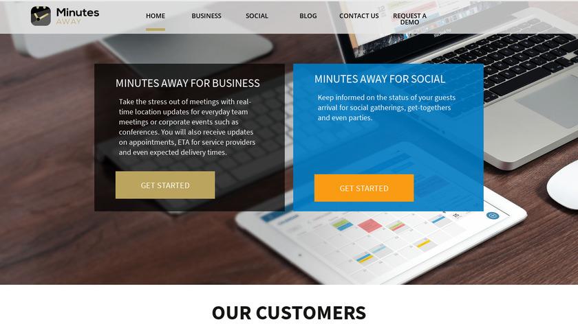 Minutes Away Social Landing Page