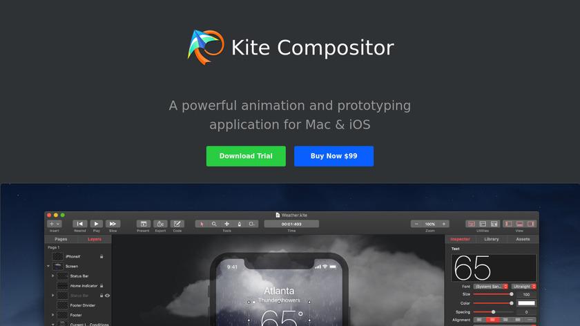 Kite Compositor Landing Page
