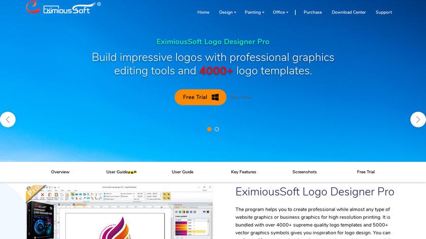 EximiousSoft Logo Designer Landing Page