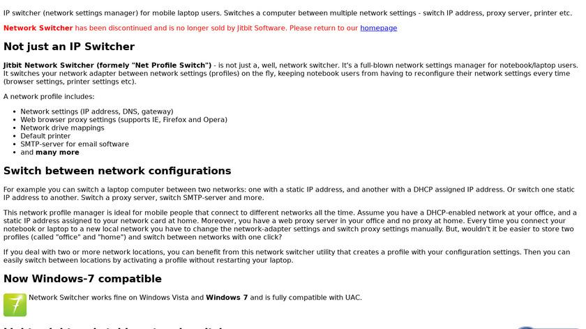 Net Profile Switch Landing Page