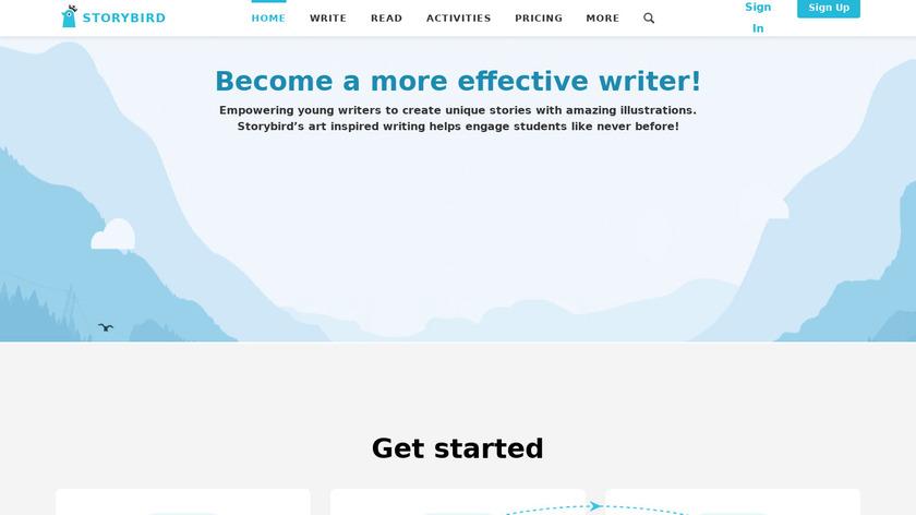 Storybird Landing Page