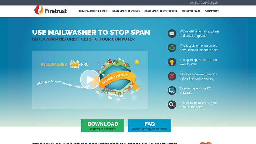 Mailwasher Landing Page