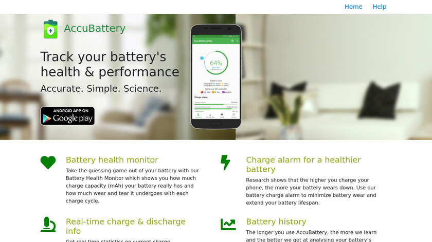 Accubattery Landing Page