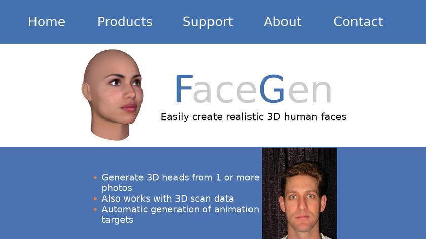 Face Gen Landing Page