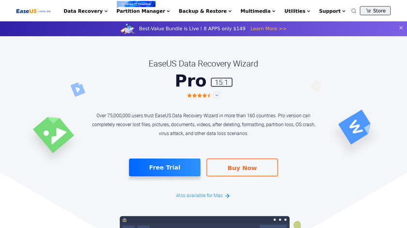 EaseUS Data Recovery Wizard Landing Page