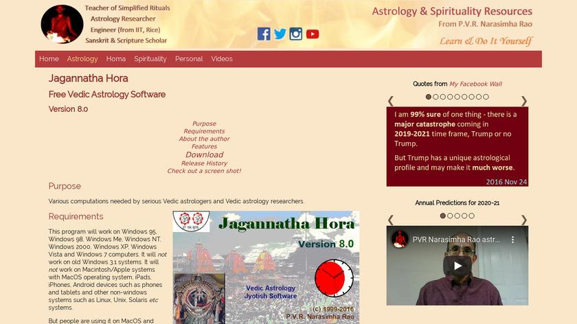 Jagannatha Hora Landing Page