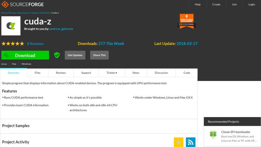 CUDA-Z Landing Page