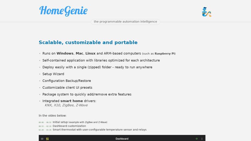 HomeGenie Landing Page