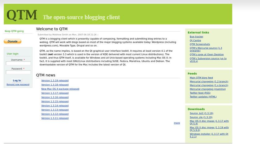 QTM Landing Page