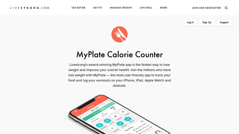 MyPlate Landing Page