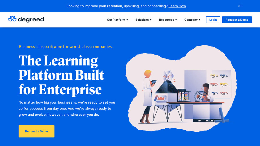 Degreed for Business Landing Page