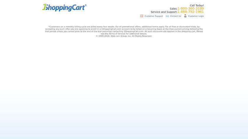 1ShoppingCart Landing Page