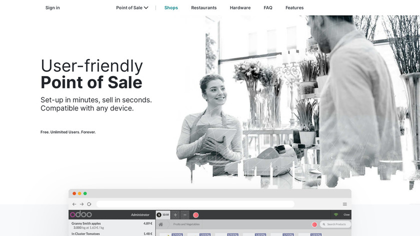 Odoo Point of Sale Landing Page