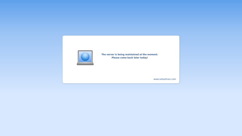 NetSetMan Landing Page