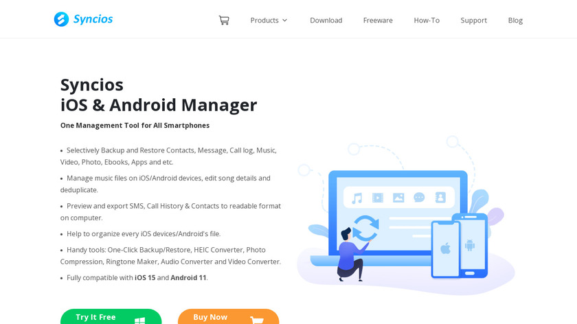 SynciOS Manager Landing Page