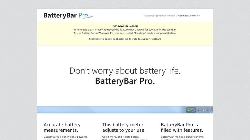 BatteryBar Landing Page