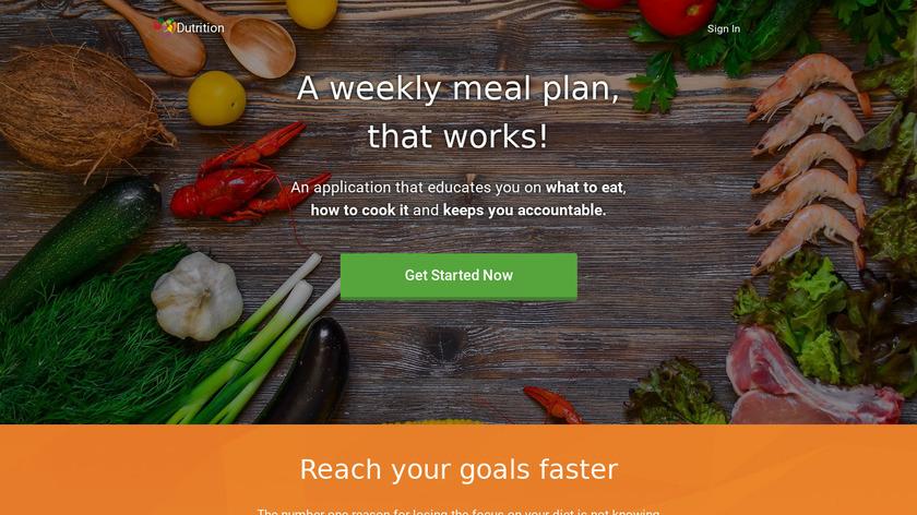 Dutrition Landing Page