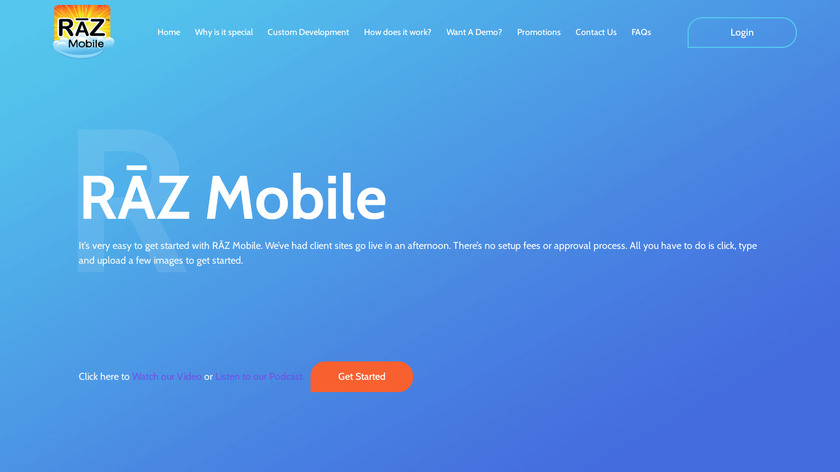 R<80><db>Z Mobile Landing Page