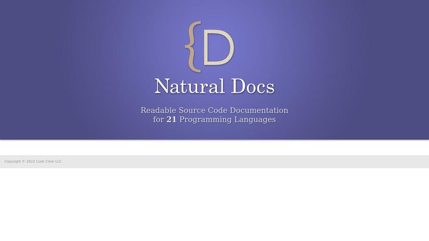 Natural Docs Landing Page