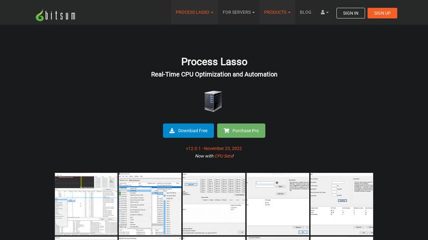 Process Lasso Landing Page