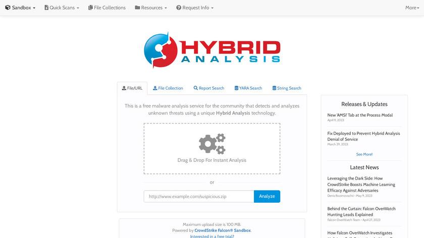 Hybrid-Analysis.com Landing Page