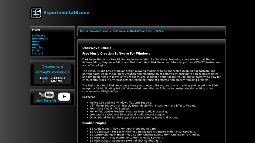 DarkWave Studio Landing Page