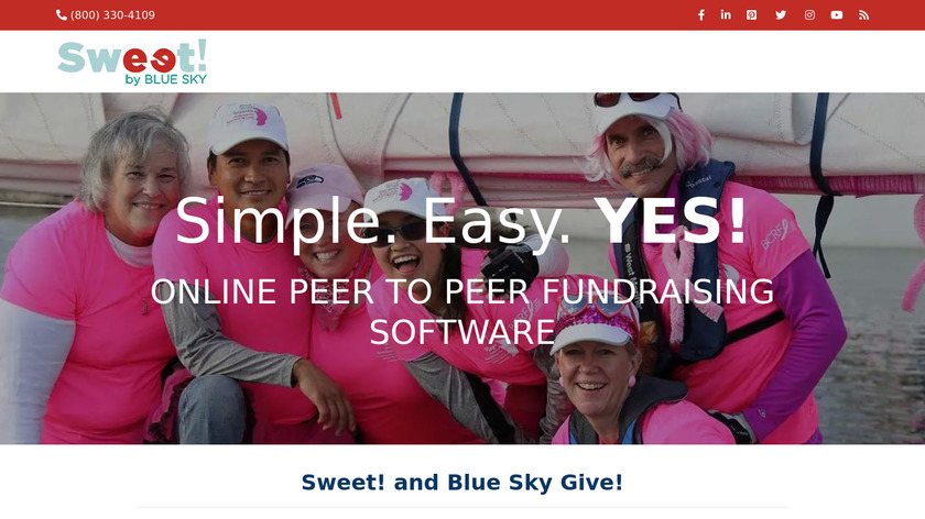 SWEET by Blue Sky Landing Page